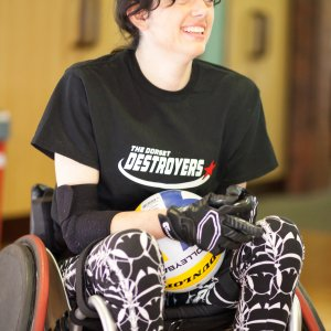 Dorset Woman Grace McGowan of The Dorset Destroyers is the face of national campaign to help more young people play Wheelchair Rugby