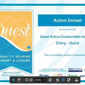 Active Dorset rated 'good' in QUEST Accreditation