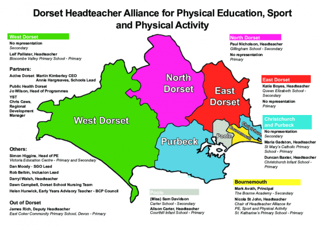Dorset Headteacer Alliance Map