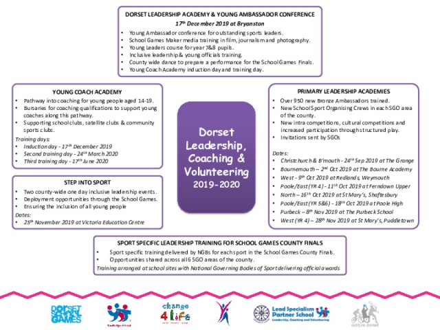 Dorset Leadership Programme overview 2019-20