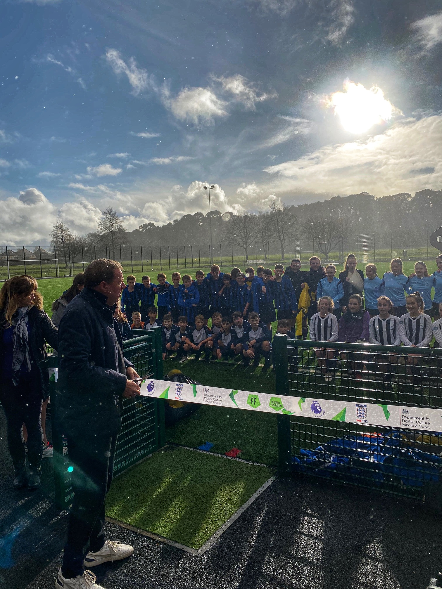 """It is great to have a facility like this in Bournemouth"" - Harry Redknapp officially opens the new 3G football pitch at Slades Park"